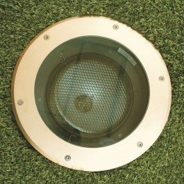 Olympus70 Recessed Uplight - 70w 36° - Sandblasted Brass