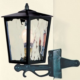 Grosvenor - Corner Up Lantern - Black - E27