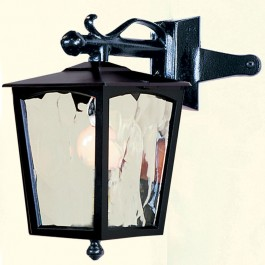 Grosvenor - Corner Down Lantern - Black - E27