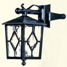 Royale - Corner Down Lantern - Black - E27