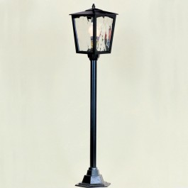 Grosvenor - Post Mount Lantern - Black - E27