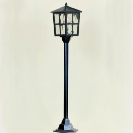 Balmoral - Post Mount Lantern - Black - E27
