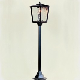 Victorian - Post Mount Lantern - Black