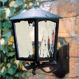 Grosvenor - Wall Up Lantern - Black - E27