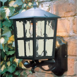 Balmoral - Wall Up Lantern - Black - E27