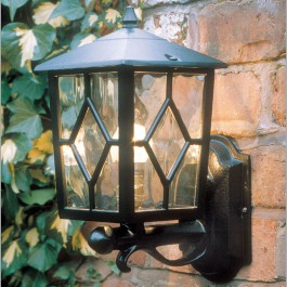 Royale - Wall Up Lantern - Black - E27