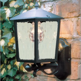 Victorian - Wall Up Lantern - Black - E27
