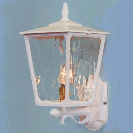 Victorian - Wall Up Lantern - White - E27