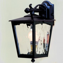 Grosvenor - Wall Down Lantern - Black - E27