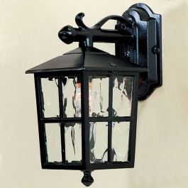 Balmoral - Wall Down Lantern - Black - E27