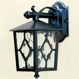 Royale - Wall Down Lantern - Black