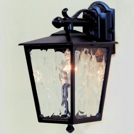 Victorian - Wall Down Lantern - Black - E27