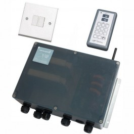 4 Channel Starter Kit: Handset - Wall Switch - 4 Channel  Controller