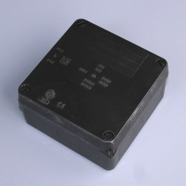 IP65 Junction Box (Plain Sides) - 112 x 112 x 67mm  -  Black