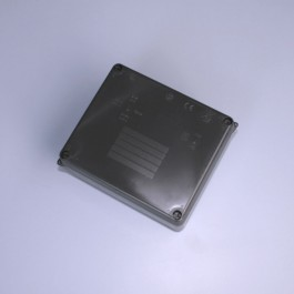 IP65 Junction Box (Plain Sides) - 160 x 120 x 71mm  -  Black