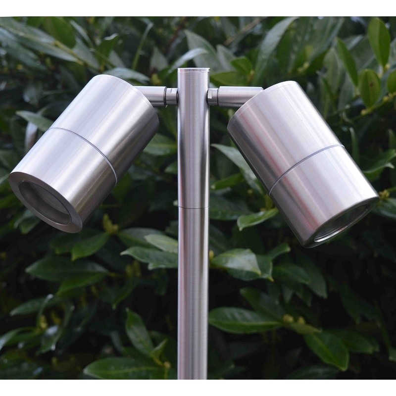 Pole Spot Duo - Stainless Steel - 12v Outdoor Spotlight