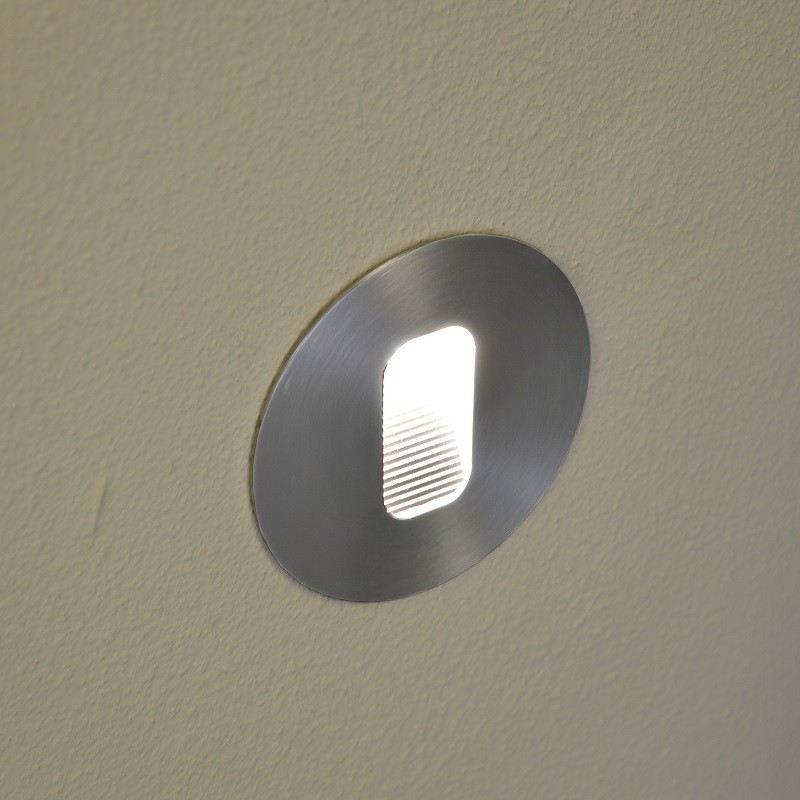 Manzi Outdoor Wall Light - Warm White - Round - Stainless Steel