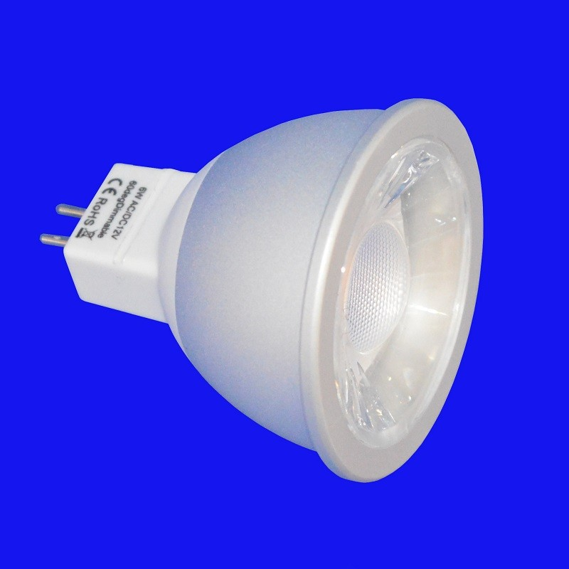 6w 480lm MR16 COB LED Lamp - Warm white 2700K 60°