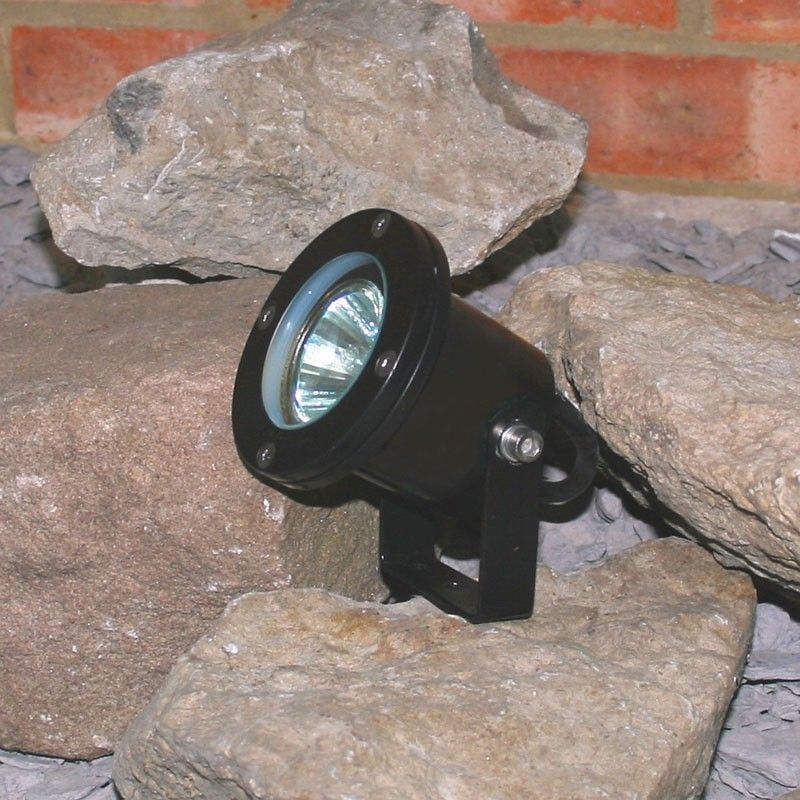 Atlantus powder coated black underwater light - 12v