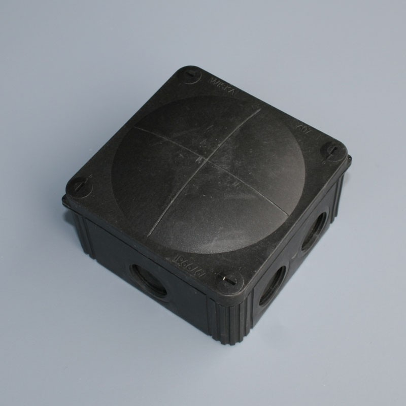 IP66 Junction Box c/w Terminals / Entries - 85 x 85 x 50mm  -  Black