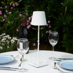Rechargeable Battery Outdoor LED Table Lamp - White