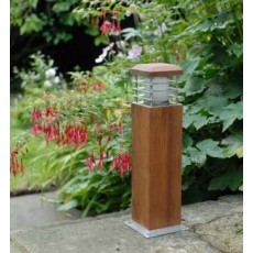 Elipta Cirrus 45 Bollard Light with Louvres - Teak