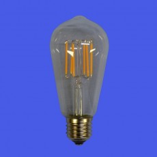 6w Decorative Teardrop Lamp - E27 Warm White 2200K 580LM - Dimmable