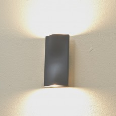 Elipta Cyclone Up & Down Outdoor Wall Light - Graphite - Warm White LED