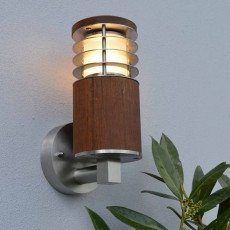 Nimbus 30 Outdoor Wall Light with Louvres - Teak