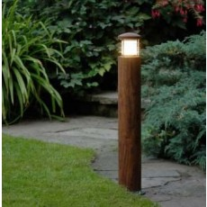 Elipta Nimbus 70 Bollard Light with Louvres - Teak