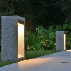 Arcus 42 Stone Bollard Light - Granite