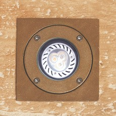 Elipta Neptune Recessed Light with Square Top - Brass