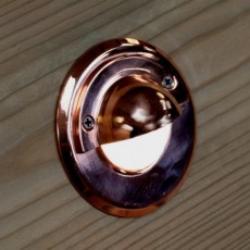 Navigator Eye - Copper - 12v - White LED - Eyelid
