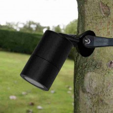 Strap-Mount Tree Spotlight GU10 -  Black
