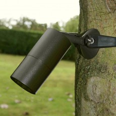 Strap-Mount Tree Spotlight MR11 -  Rustic Brown
