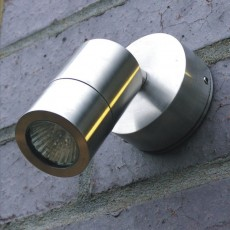 Microspot Outdoor Wall Spotlight- Stainless Steel - 12v MR11