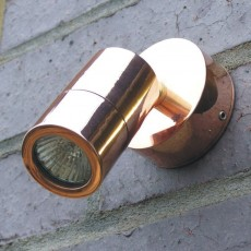 Microspot Outdoor Wall Spotlight - Copper - 12v MR11