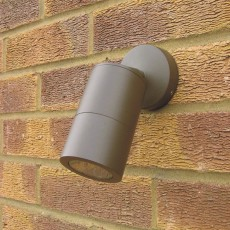 Compact Outdoor Wall Spotlight - Rustic Brown - 12v MR16