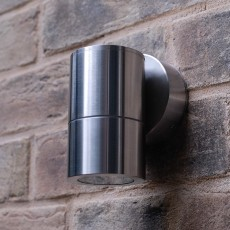 Compact Outdoor Wall Downlight - Stainless Steel - 240v GU10