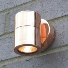 Compact Outdoor Wall Downlight - Copper - 12v MR16