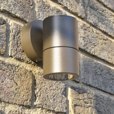 Compact Outdoor Wall Downlight - Rustic Brown - 12v MR16