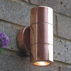 Elipta Compact Up & Down Outdoor Wall Light - Natural Copper 240v GU10