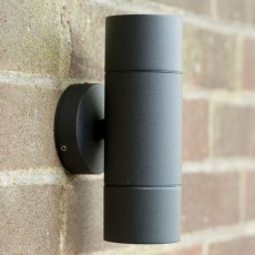 Elipta Compact Up & Down Outdoor Wall Light - Black Aluminium 240v GU10