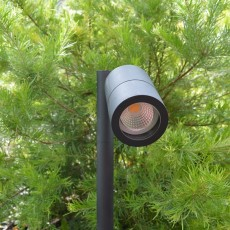 Elipta Pole Spot Solo - Black - 12v Outdoor Spotlight