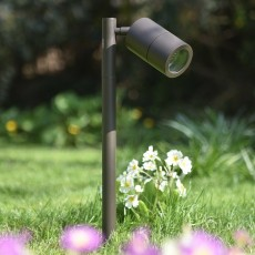 Elipta Pole Spot Solo - Rustic Brown - 12v Outdoor Spotlight