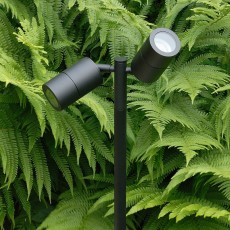 Elipta Pole Spot Duo - Black - 12v Outdoor Spotlight