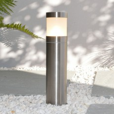 Compact Bollard Light - Stainless Steel - 240v E27