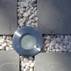 Elipta Sol LED Recessed Uplight Stainless Steel 240v