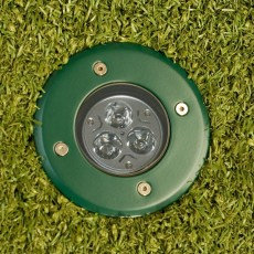 Modula Recessed Uplight - Green - Round - 240v GU10