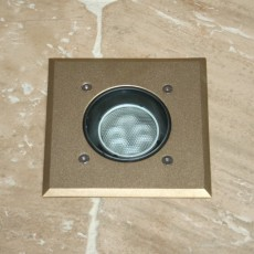 Modula Recessed Uplight - Brass - Square - 240v GU10